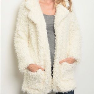 Jackets & Blazers - SHAGGY FAUX FUR COAT
